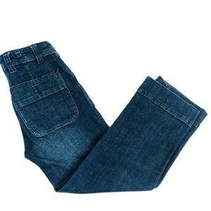 Free People Sz 24 Cropped Trouser Denim Jeans